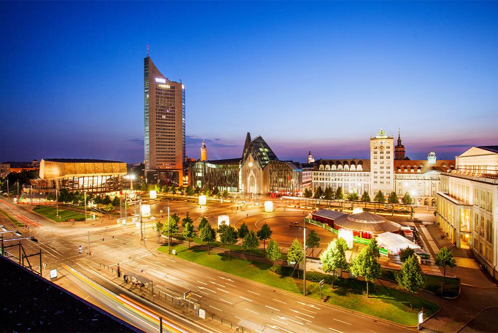 Panoramatower auf dem Augustusplatz